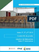 Preguntas Saber 3 Matematicas 2015 Colegio Benjamin Franklin