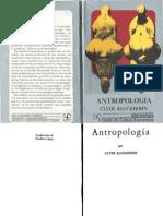 kluckhohn, antropología