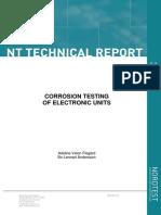Corrosion Testing of Electronic Units