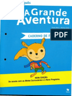 A Grande Aventura Caderno de Fichas Português 1ºAno
