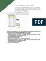 Cara Menyembunyikan Cell Dalam Microsoft Excel