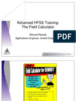 Advanced HFSS Training the Field Calculator