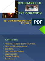 imortance of eye donation
