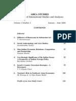 Area Studies Vol.2(1), 2008