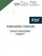 Manual Visual Colorimeter Model f