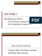 Introduction to SQL II