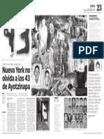 Nueva York no olvida a los 43 de Ayotzinapa
