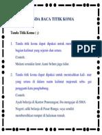 Tanda Baca Titik Koma Dalam Bahasa Indonesia