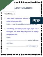 Tanda Baca Tanda Hubung Dalam Bahasa Indonesia