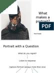 portrait ideas and presentation plan