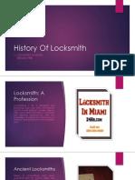 Locksmith History