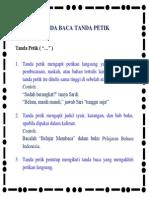 Tanda Baca Tanda Petik Dalam Bahasa Indonesia