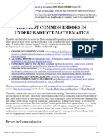 Common Errors in College Math