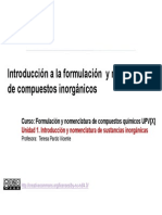 1.1. Introducci+¦n formulaci+¦n y nomenclatura de  compuesttos inorganicos.