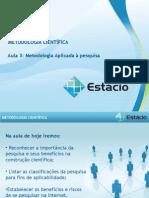Aula_03 Metodologia Aplicada a Pesquisa