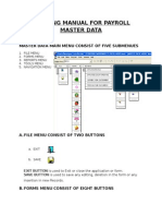 Training Manual for Payroll Master Data