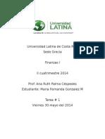Universidad Latina de Costa Rica Finanza 1