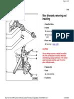 42-93 Rear Drive Axle Remove & Install