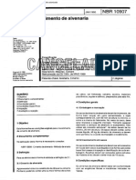 NBR 10907 - 1990 - Cimento de Alvenaria - Norma Cancelada