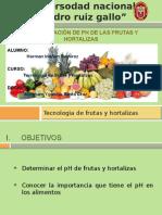 practica- Ph de Algunas Frutas y Hortalizas
