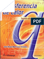 Transferencia de Calor, 2ª Edición, Manrique