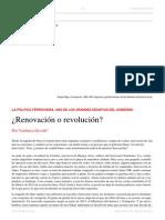 Verónica Ocvirk. La Política Ferroviaria. ¿Renovación o Revolución. El Dipló. Edición Nro 182. Agosto de 2014