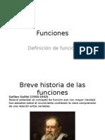 Historia y definición de función.