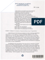 DoD Contingency Plan Guidance During a Government Shutdown