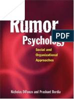 Nicholas Difonzo, Prashant Bordia Rumor Psychology Social and Organizational Approaches 2006[1]
