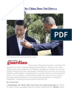To Obama – Why China Does Not Have a Nelson Mandela