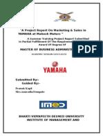 A Project Report on Marketing yamaha -Prateek Kapil