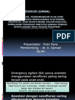 Diskusi Jurnal ketamin propofol pediatric anestesi