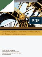 Contribuicoes a Historia Intelectual Do Brasil Republicano 2012 1