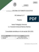 Informe Del Trabajo Con El LEC-PADRES