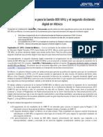 Noviembre, mes clave para la banda 600 MHz y el segundo dividendo digital en México