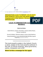 Lico Reyes - IMMIGRATION LULAC TX REPORT  09-25-2015 - POPE FRANCIS' visit to the USA White House Congress and United Nations. Strong message on IMMIGRATION!.pdf