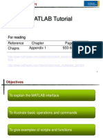 (1.) MATLAB Tutorial (Part 1)
