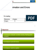(3.) Approximation and Errors (Part 1)