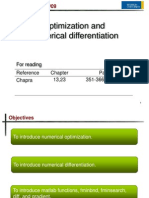 (11.) Optimization and Numerical Differentiation