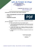 Co n.º 387 Futebol 11_prova Extraordinaria de Infantis Joao Vieira_programa de Jogos