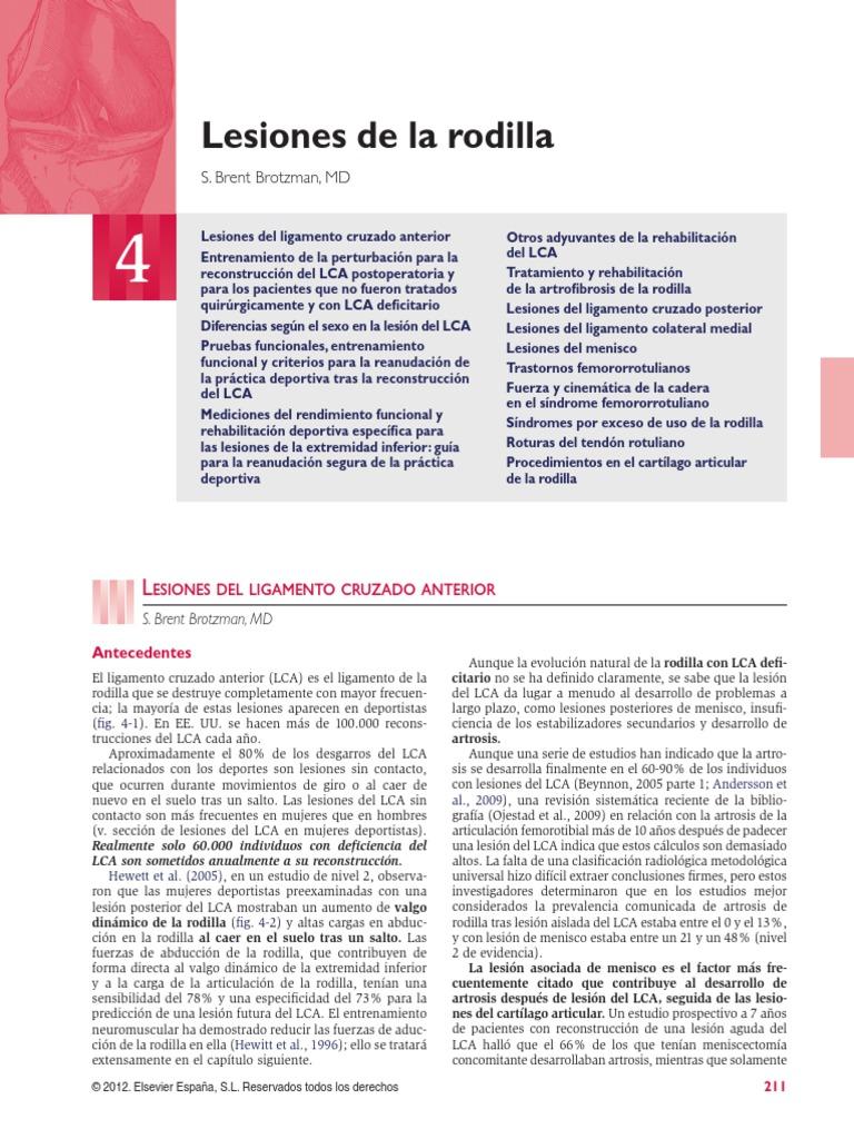 CAPITULO 4 Lesiones de Rodilla
