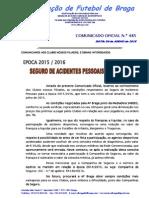 CO N.º 485 ÉPOCA 2015_2016__SEGURO DE ACIDENTES PESSOAIS