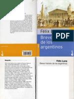 Luna Felix Breve Historia de Los Argentinos