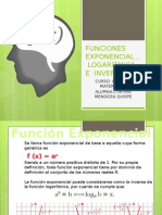 FUNCIONES EXPONENCIALES LOGARITMICA E INVERSA