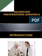 VALORACION PREOPERATORIA GERIATRICA