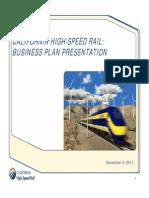 CAHSR Bus Plan Board Presentation 2011 11 3
