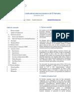 Principales indicadores macroeconomicos de El Salvador