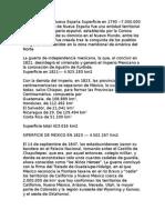 Datos Estadisticos de Mexico 1821
