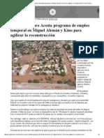 24-09-15 Anuncia Maloro Acosta programa de empleo temporal en Miguel Alemán y Kino para agilizar la reconstrucción