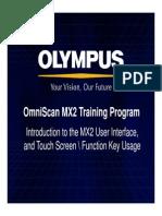 MX2 Training Program 3 MX2 Touchscreen and User Interface